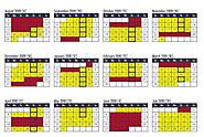A Calendar of a Year-Round School