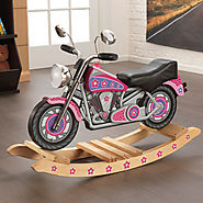 Kidkraft Rockin' Pink Flower Power Motorcycle Rocking Horse