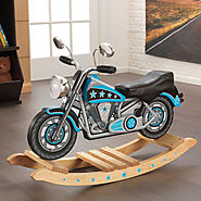 Kidkraft Rockin' Blue Star Motorcycle Rocking Horse
