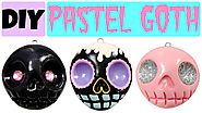How to Make EASY Skull | Pastel Goth Polymer Clay Charms |