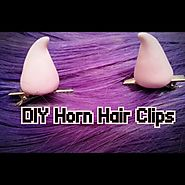 DIY: Pastel Goth Horn Hair Clips