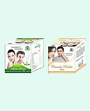 Aloe Vera Gel and Chandra Prabha Ubtan Best Value Combo Packs