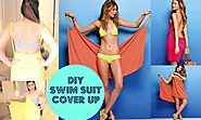 DIY Victoria's Secret Swimsuit Cover-Up { No Sewing }