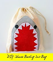 DIY Shark Bathing Suit Bag