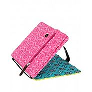 Stylish & Protective Pink Abstract Cotton Printed Ipad Case