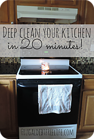 How I deep clean my kitchen in 20 minutes