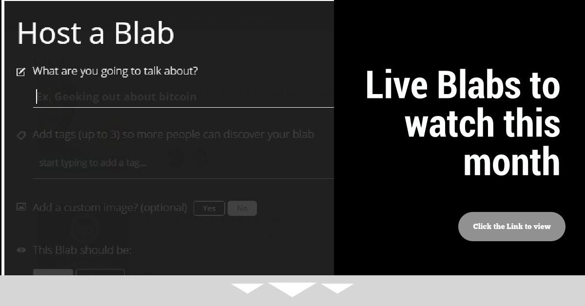 Headline for Video Shows to Watch on Blab in April
