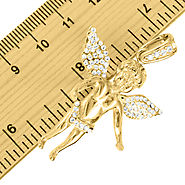 Purchase 14K Gold Finish Angel Stainless Steel Pendant at Master Of Bling