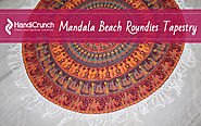 Alluring pieces of Beach Roundie Mandala Tapestry