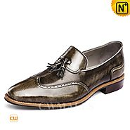 CWMALLS® Mens Leather Tassel Dress Shoes CW716251