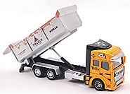 Vidatoy 1:48 Diecast Transport Truck Construction Toy Vehicle For Kids