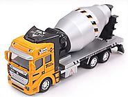 Vidatoy 1:48 Diecast Pullback Car Cement Mixer Truck Construction Toy Vehicle For Kids