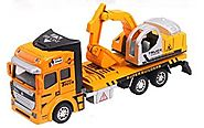 Vidatoy 1:48 Die Cast Excavator Metal Plastic Construction Toy Vehicle