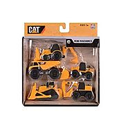 Toy State Caterpillar Construction Mini Machine 5-Pack (Styles May Vary)