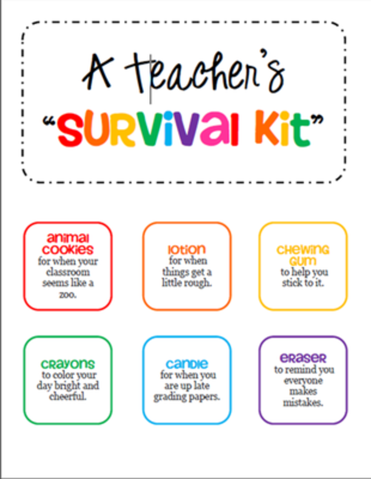 Headline for Survial Kit For New Teachers
