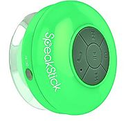 Bluetooth Shower Speaker SpeakStick With Lifetime Guarantee Rechargeable Waterproof and Portable With Mini USB Connec...