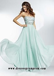 Floor Length Crystal Beads Strapless ML 95005 Mint Prom Dresses