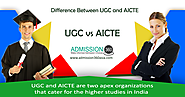 Difference Between UGC and AICTE