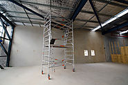 Light Weight, Mobile Scaffolding for Tight Areas