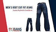 Looks Stylish & Confident with Men's Boot Cut Fit Jeans