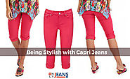 Women Looks More Beautiful and Stylish With Wide Range of Capri Jeans
