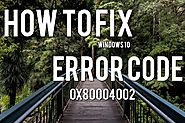 How to Fix Windows 10 Error Code 0x80004002