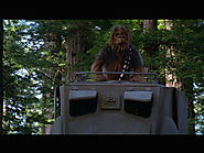 "Chewbacca pops out of walker on Endor in ""Return of the Jedi"""
