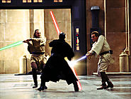 Qui-Gon Jinn and Obi-wan Kenobi vs Darth Maul