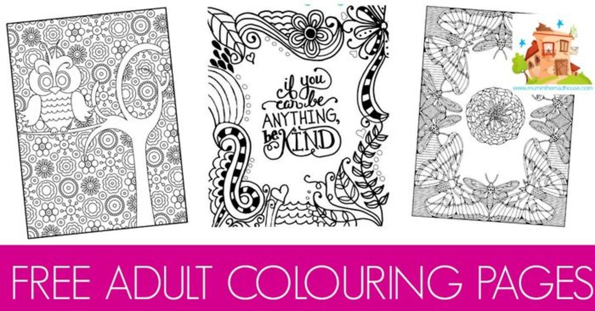 Headline for Outside the Lines: Printable Colouring Book Pages