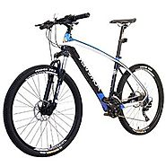 ASVOGUE Men's 26 Inch Dual Full Carbon Fiber Suspension Mountain Bike