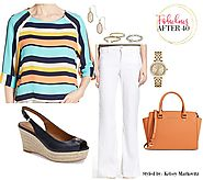 Look Rainbow Beautiful in Colorful Stripes | Fabulous After 40