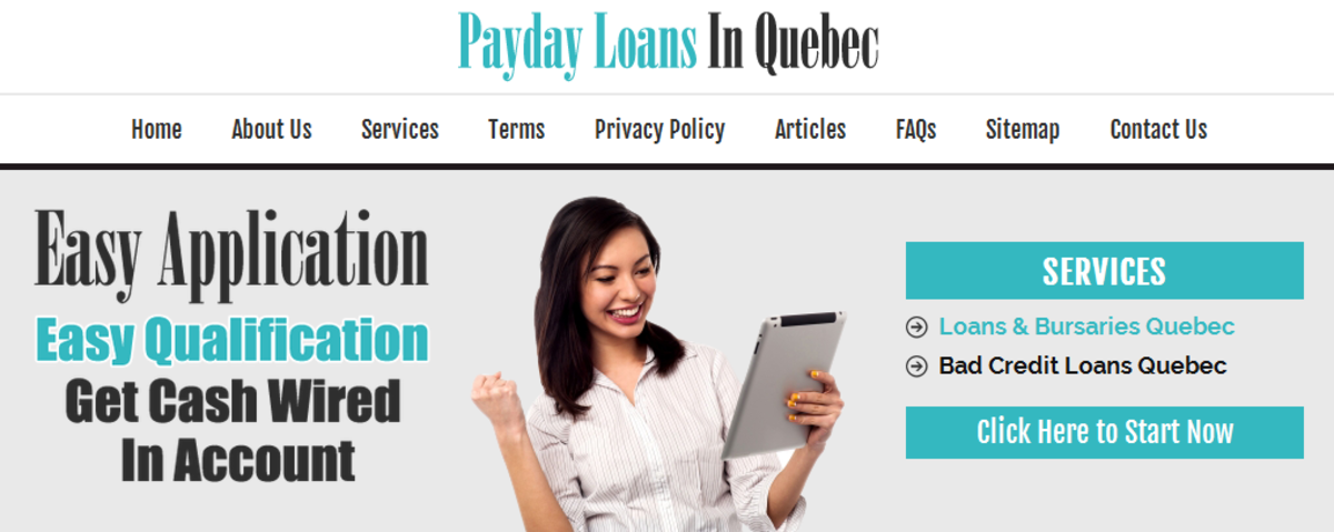 Headline for Payday Loans Quebec