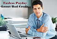 Faxless Payday Loans Bad Credit – Avail Cash Without Faxing Formality