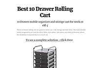 Best 10 Drawer Rolling Cart