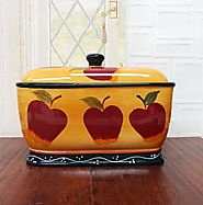 Best Red Bread Boxes, Bins and Bread Crock Pots