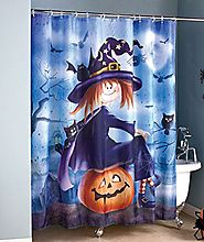 Halloween Witch and Pumpkin Shower Curtain - Mommy Today Magazine