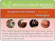 Natural Solutions Acupuncture Kensington, Sydney for Pain - Wnmed