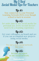 Social media tips for teachers