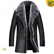 CWMALLS® 2in1 Embossed Sheepskin Fur Coats CW852556