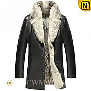 CWMALLS® Mens 2in1 Wolf Fur Coat CW855587