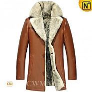 CWMALLS® 2in1 Mens Wolf Fur Coats CW855583