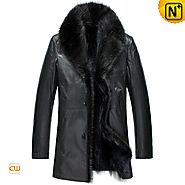 CWMALLS® Mens 2in1 Sheepskin Fur Coat CW852458
