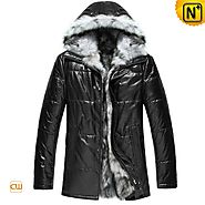 CWMALLS® Custom Hooded Fox Fur Coat CW848366