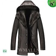 CWMALLS® Chicago Hooded Sheepskin Fur Coat CW836057