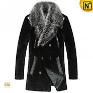 CWMALLS® Salt Lake City Black Fur Coat CW868007