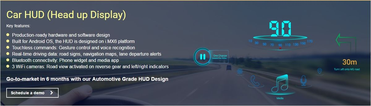 Headline for Car HUD (Head-up Display): the top 10 features