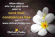 REMEMBER YOUR LOVED ONES VIA OBITUARYTODAY