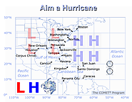 Hurricane Tracks for Idealized Environmental Flows