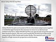 Buy Plots in Ghaziabad – Aditya World City Plots