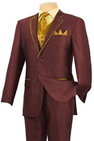 Burgundy And Gold Tuxedo For Men- MensItaly